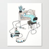 Work & Play Canvas Print