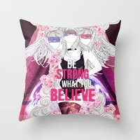 Born This Way - Be Stron… Throw Pillow
