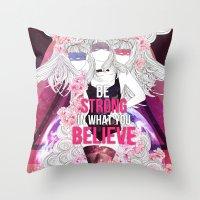 Born This Way - Be Stron… Throw Pillow