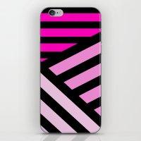 STRIPED {PINK} iPhone & iPod Skin