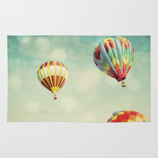 Perfect Dream - Hot Air Balloons Area & Throw Rug