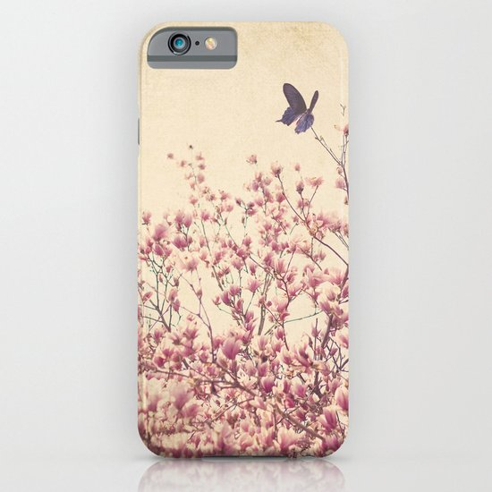Butterfly and Pink Blossoms iPhone & iPod Case