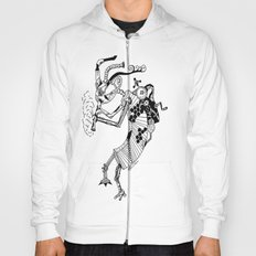 Steampunk Kokopelli Original Pen and Ink Design Hoody