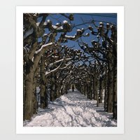 on a cold winter day Art Print