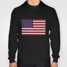 American Flag In Crayon Hoody