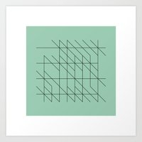 #53 Writings – Geometr… Art Print