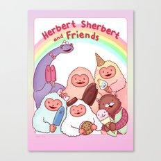 Herbert Sherbert and Friends Canvas Print