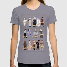 Women In History Womens Fitted Tee Slate SMALL
