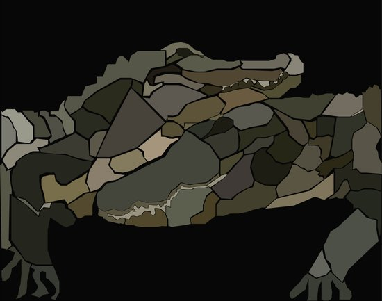 Mellifluous Crocodiles Art Print