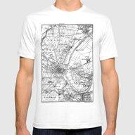 T-shirt featuring Vintage Paris Map by LebensART