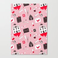 HAUNTED HOUSE (PINK VER) Canvas Print