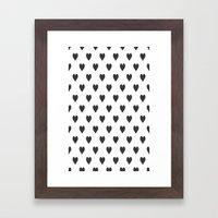 Hearts PB Framed Art Print