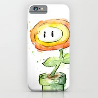 iPhone & iPod Case featuring Fireflower Watercolor Painting by Olechka