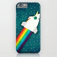 Unicorn Rainbow Rocket iPhone 6 Slim Case