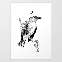 Key Bird Art Print