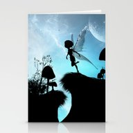 Fairy Silhouette Stationery Cards