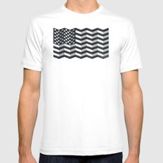 Made in America Mens Fitted Tee SMALL White