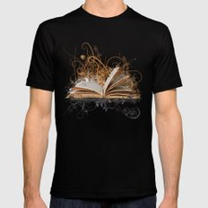 BLOOMING BOOK Mens Fitted Tee Black SMALL