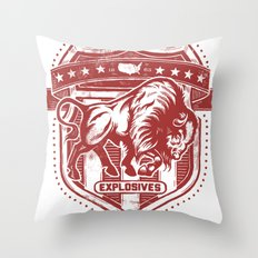 Buffalo Explosives Throw Pillow