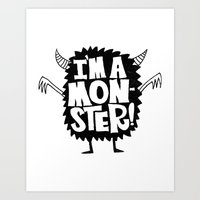 MONSTER ME Art Print