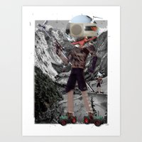Holiday am KönigsSee 2 Collage Art Print