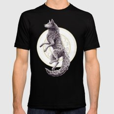 Shades of the moon Mens Fitted Tee Black SMALL