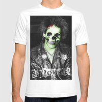SidZOMBIE Mens Fitted Tee White SMALL