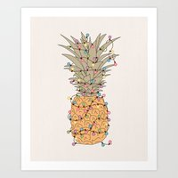 Tropical Lights Art Print