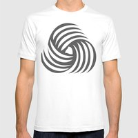Wirbelnde Sonne Mens Fitted Tee White SMALL