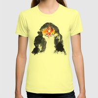 Muscle Girl Womens Fitted Tee Lemon SMALL