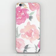 Muted Floral Watercolor … iPhone & iPod Skin