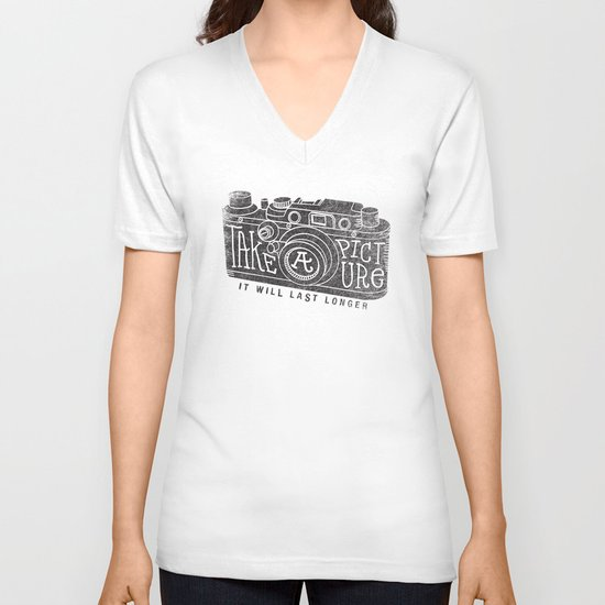 TAKE A PICTURE V-neck T-shirt