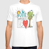 Home is Where the Heart Is Mens Fitted Tee White SMALL