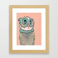 Owl Wearing Glasses II Framed Art Print