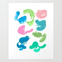 United Cats Of Colour Art Print