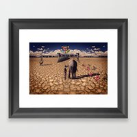 The road to hedonisum Framed Art Print