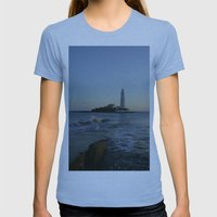 St Marys Lighthouse Womens Fitted Tee Athletic Blue SMALL