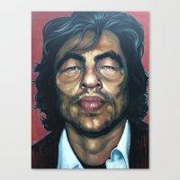 Benecio Del Toro Canvas Print
