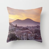 Napoli, Landscape With V… Throw Pillow
