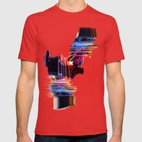 Psychedelic Love Mens Fitted Tee Red SMALL