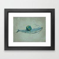 Save The Planet II Framed Art Print
