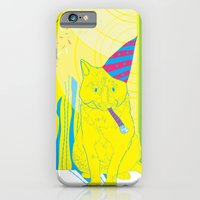 iPhone & iPod Case featuring Party Cat by Marlene Pixley