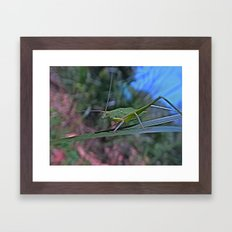 the green thing Framed Art Print