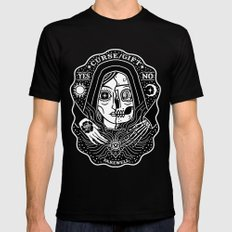 Contacting Death Mens Fitted Tee Black SMALL