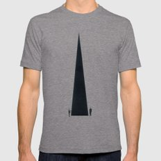 Monument Mens Fitted Tee Tri-Grey SMALL