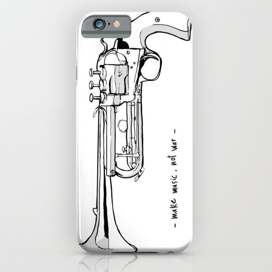 Make music, not war. iPhone & iPod Case
