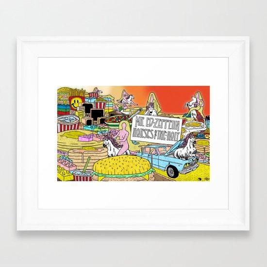 """Mr. Ed-Zeppelin - """"Horses of the Holy"""" by Steven Fiche Framed Art Print"""