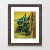 Big Dance, Little Branch Framed Art Print