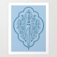 Gothic Dagger Ornamental Art Print