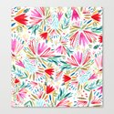 Bright floral pattern Canvas Print